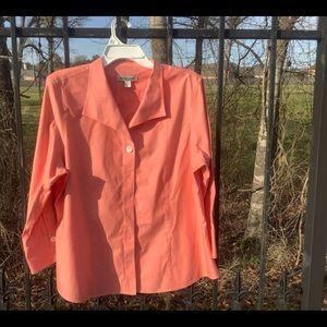 Cold water creek salmon  button shirt